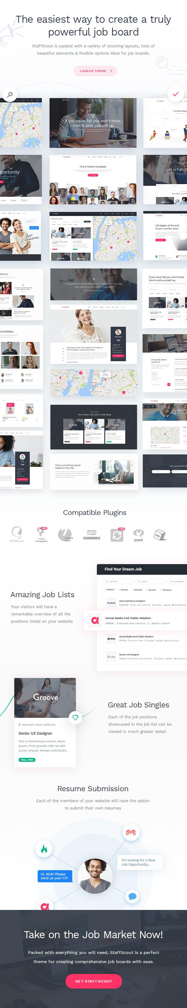WordPress theme StaffScout - A Powerful Job Board Theme (Directory & Listings)